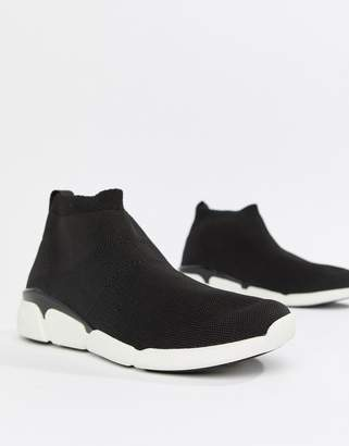 53f1c32305d4 Aldo Black Sock Trainers With Chunky Soles