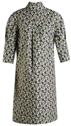 Marni High-neck floral-print midi dress