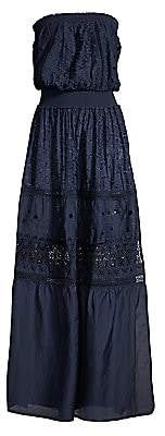Ramy Brook Women's Isadora Strapless Embroidered Maxi Dress