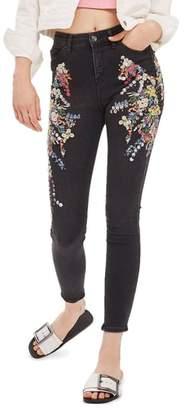 Topshop MOTO Jamie Ditsy Embellished Jeans