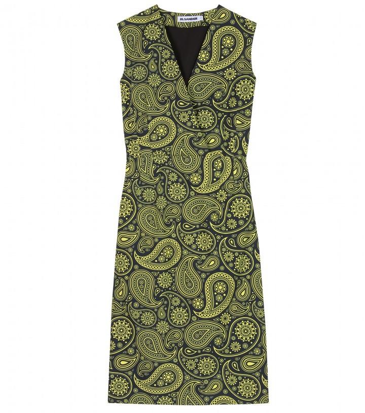 Jil Sander PAISLEY PRINT COTTON DRESS