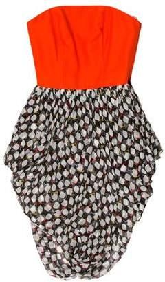Jason Wu Printed Strapless Dress