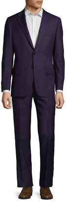 Hickey Freeman Two-Piece Wool Check Suit