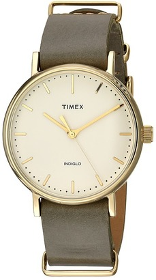 Timex Weekender Fairfield Leather Slip-Thru Strap $74.95 thestylecure.com
