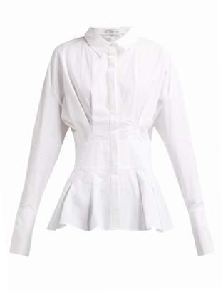 story. White Gigi Cotton Peplum Shirt - Womens - White