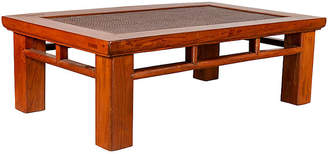 One Kings Lane Vintage Chinese Square Leg Elm Coffee Table - FEA Home