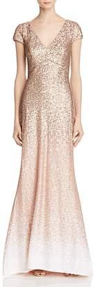 Carmen Marc Valvo Infusion Ombré Sequin Gown $408 thestylecure.com