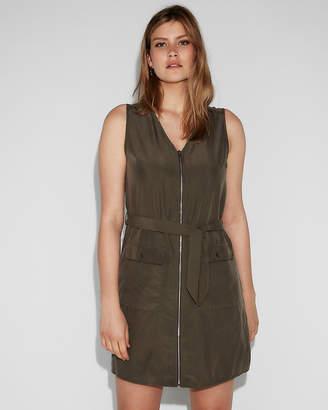 Express Zip Front Shirt Dress
