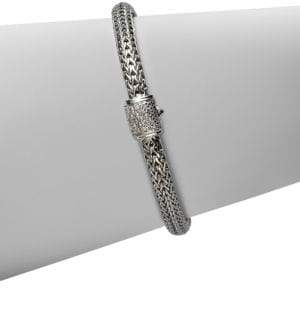 John Hardy Classic Chain Diamond& Sterling Silver Extra-Small Bracelet