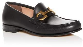 Salvatore Ferragamo Men's Bond Leather Moc Toe Loafers