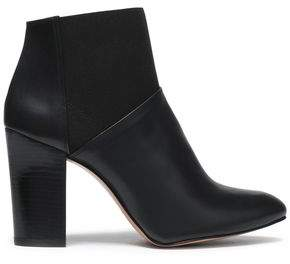 Castaner Paneled Leather And Stretch-Knit Ankle Boots