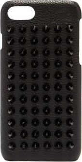 Christian Louboutin Loubiphone Spike Leather Iphone 7/8 Case - Mens - Black