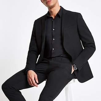 River Island Black stretch skinny fit suit jacket