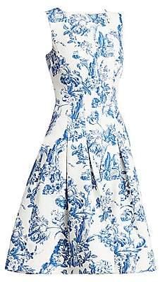 Oscar de la Renta Women's Sleeveless Toile du Joie Skirt Dress