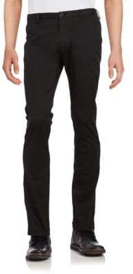 HUGO BOSS Cotton-Blend Straight-Leg Pants