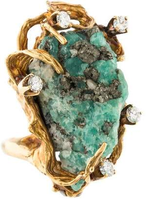 Ring 18K Free Form Chrysocolla