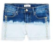 Jessica Simpson Little Girl's Dip-Dyed Denim Shorts