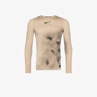 Nike 1017 ALYX 9SM X beige long sleeve compression top