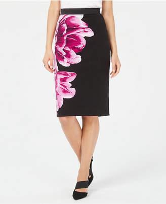 c57d25956b Alfani Petite Printed Scuba Skirt