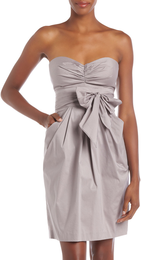 Suzi Chin for Maggy Boutique Strapless Sweetheart Dress