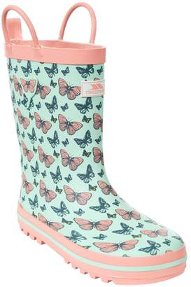 Trespass Childrens Girls Butterflie Waterproof Welly Boots