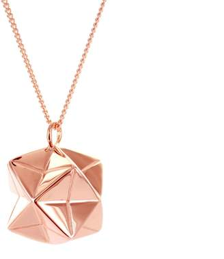 Origami Jewellery Magic Ball Necklace Rose Gold