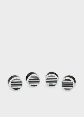 Paul Smith Men's Mother-Of-Pearl Stripe Shirt Studs