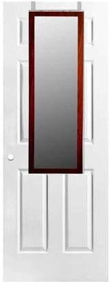 Home Basics Over-the-Door Mirror, Mahogany