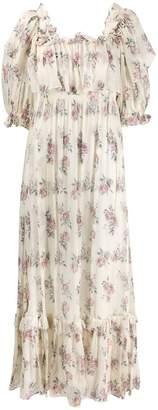 LoveShackFancy Love Shack Fancy floral print tiered dress