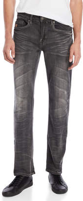 Buffalo David Bitton Grey Six-X Straight Stretch Jeans