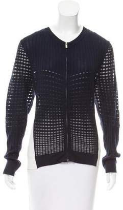 Magaschoni Knit Zip-Up Cardigan