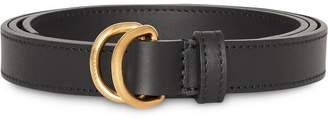 Burberry Slim Leather Double D-ring Belt