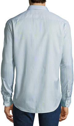Robert Graham Men's Classic-Fit Goodale Stripe/Dot Woven Shirt