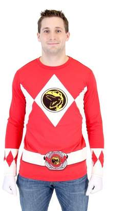 Power Rangers TV Store Ranger Long Sleeve T-Shirt & Gloves (Adult)