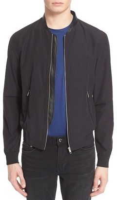 The Kooples Leather Trim Bomber Jacket $395 thestylecure.com