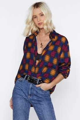 Nasty Gal I Want You So Plaid Shirt