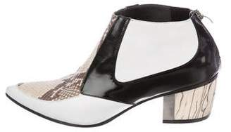 Rodarte Leather Pointed-Toe Booties