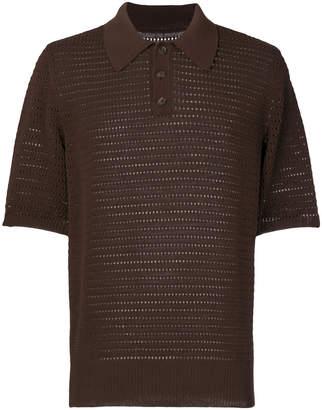 Maison Margiela hole detail polo shirt