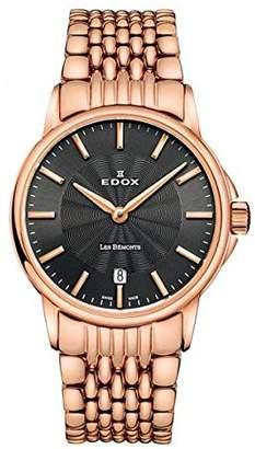 Edox Women's 57001 37RM GIR Les Bemonts Analog Display Swiss Quartz Rose Gold Watch