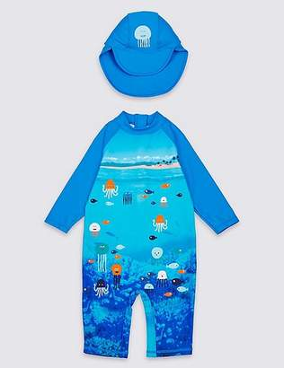 Marks and Spencer Swimsuit Set with Sun Safe UPF50+ (3 Months - 7 Years)