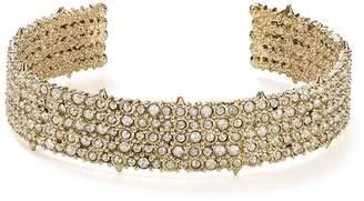 Alexis Bittar 10K Gold & Rhodium Crystal Pavé Accent Cuff