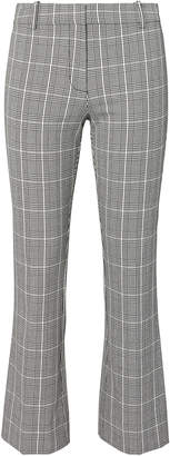 Derek Lam 10 Crosby Plaid Cropped Flare Trousers