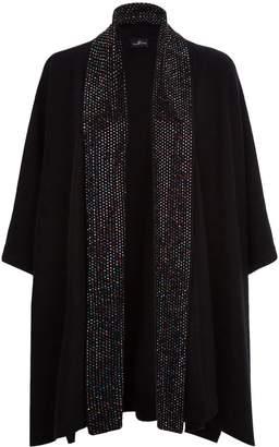 William Sharp Embellished Oversized Shawl Cardigan