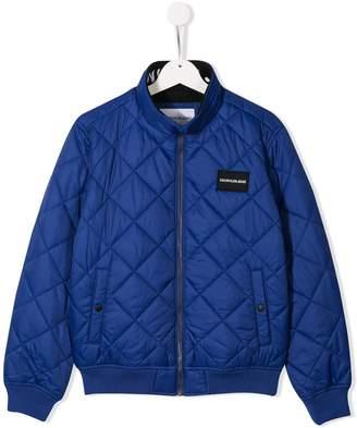 Calvin Klein Kids quilted bomber jacket