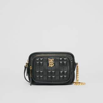Burberry Small Quilted Check Lambskin Camera Bag