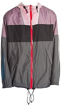 Marcelo Burlon County of Milan Men's Colorblock Hooded Windbreaker