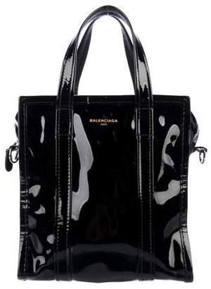 Balenciaga 2017 Patent Leather Bazaar XS Tote