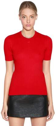 Courreges Slim Cotton & Cashmere Knit Top
