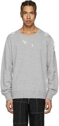Miharayasuhiro Grey Distressed Pullover $380 thestylecure.com