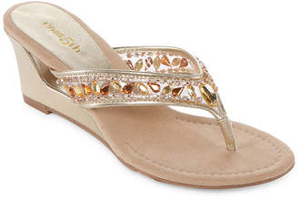 East Fifth east 5th Fancy Womens Wedge Sandals